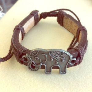 Leather Elephant Bracelet